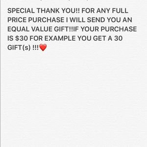 Gift when purchase is full price